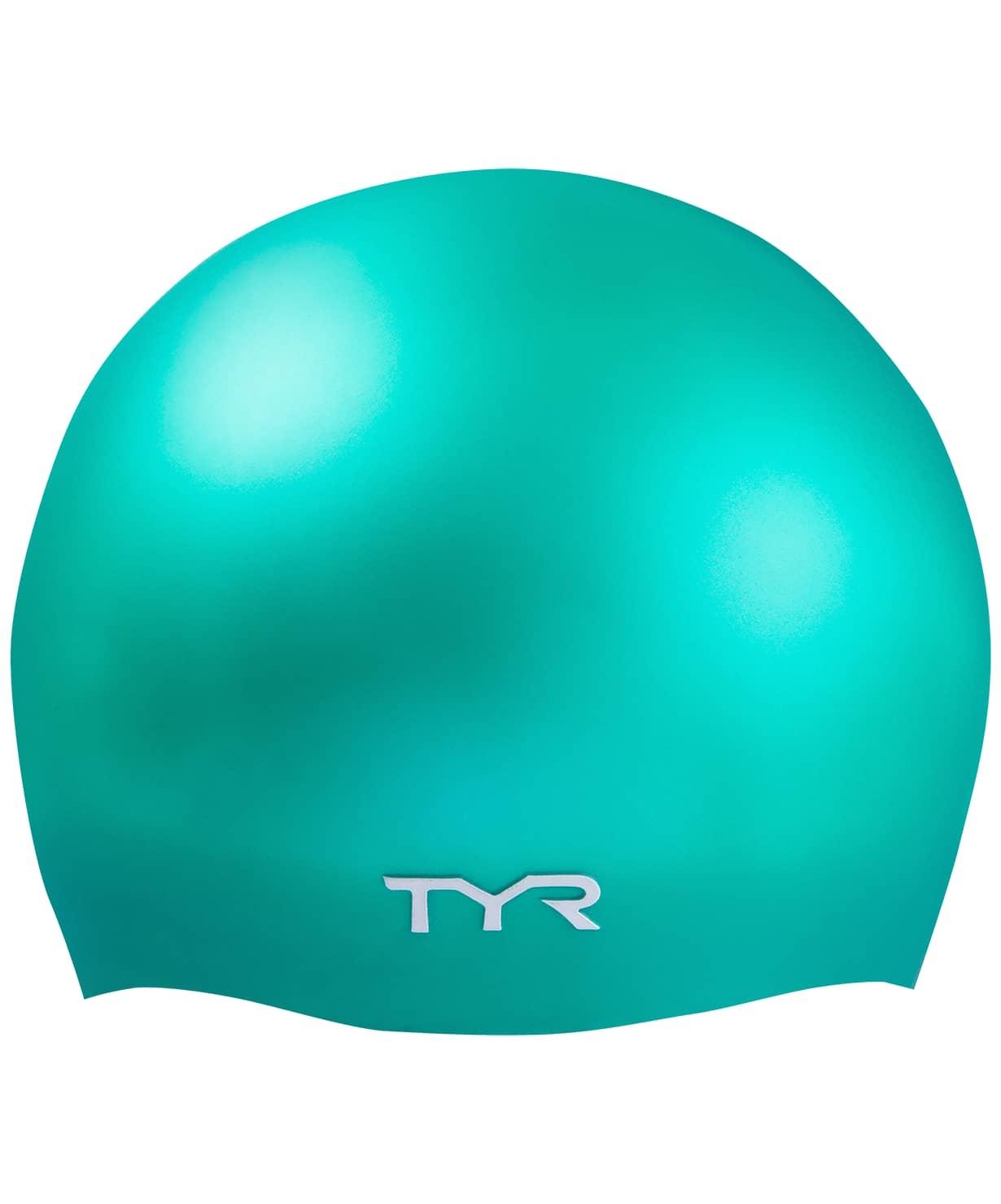 Шапочка для плавания TYR Wrinkle-Free Silicone Cap, силикон, LCSL/310, зеленый