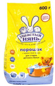 Стиральный порошок для детского белья универсальный 800г Ушастый нянь