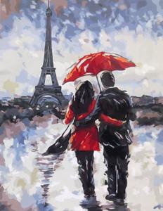 """Картина по номерам на холсте 40х50 см """"Любовь в непогоду"""""""
