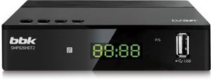 Ресивер DVB-T2 BBK SMP026HDT2 черный