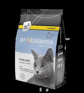"""Сухой корм для кошек ProBalance """"Sterilized"""" для стерилизованных кошек и кастрированных котов 16 шт. х 400 г"""