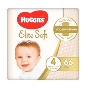 Подгузники Элит Софт 4 (8-14 кг) 66 шт Huggies