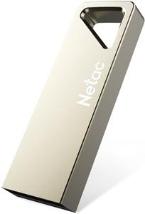 Накопитель Netac U326 16Gb <NT03U326N-016G-20PN>, USB2.0, металлическая плоская