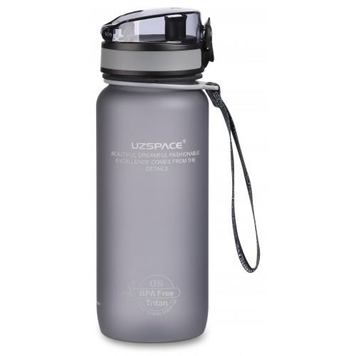 UZSPACE / Бутылка для воды Colorful Frosted, серая