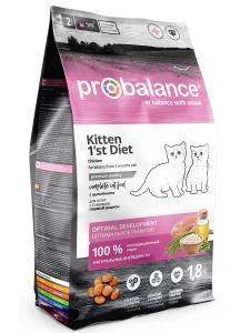 Сухой корм ProBalance 1'st Diet Корм для котят с цыпленком 1.8 кг