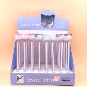 Ручка crystal kitten кошка арт 19023