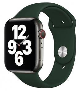 Ремешок силиконовый «vlp» Silicone Band для Apple Watch 42/44 мм, темно-зеленый