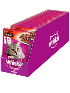Влажный корм для кошек Whiskas желе с говядиной и ягненком, 85г ( 28 шт. в уп.)