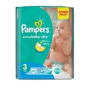 Подгузники Active Baby-Dry Maxi (7-14 кг) Упаковка 70 PAMPERS