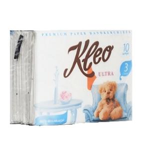 Платочки бумажные 3-х сл KLEO