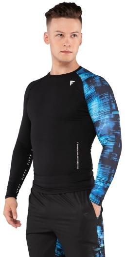 Мужская футболка с длинным рукавом Cyber Code FA-ML-0202-775, с принтом