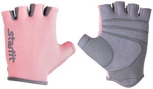 Перчатки для фитнеса STARFIT SU-127, розовый/серый (M)