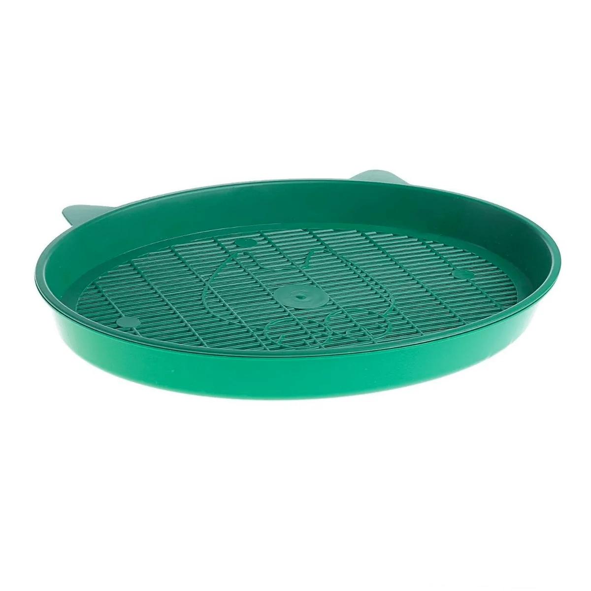 """Туалет-лоток для кошек с сеткой """"Киса"""", зелёный"""