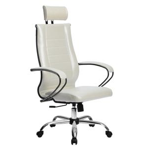 Кресло для руководителя Метта Комплект 32 (БЕЗ ОСНОВАНИЯ) белый