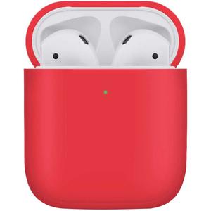 Чехол защитный «vlp» Plastic Case для AirPods, красный
