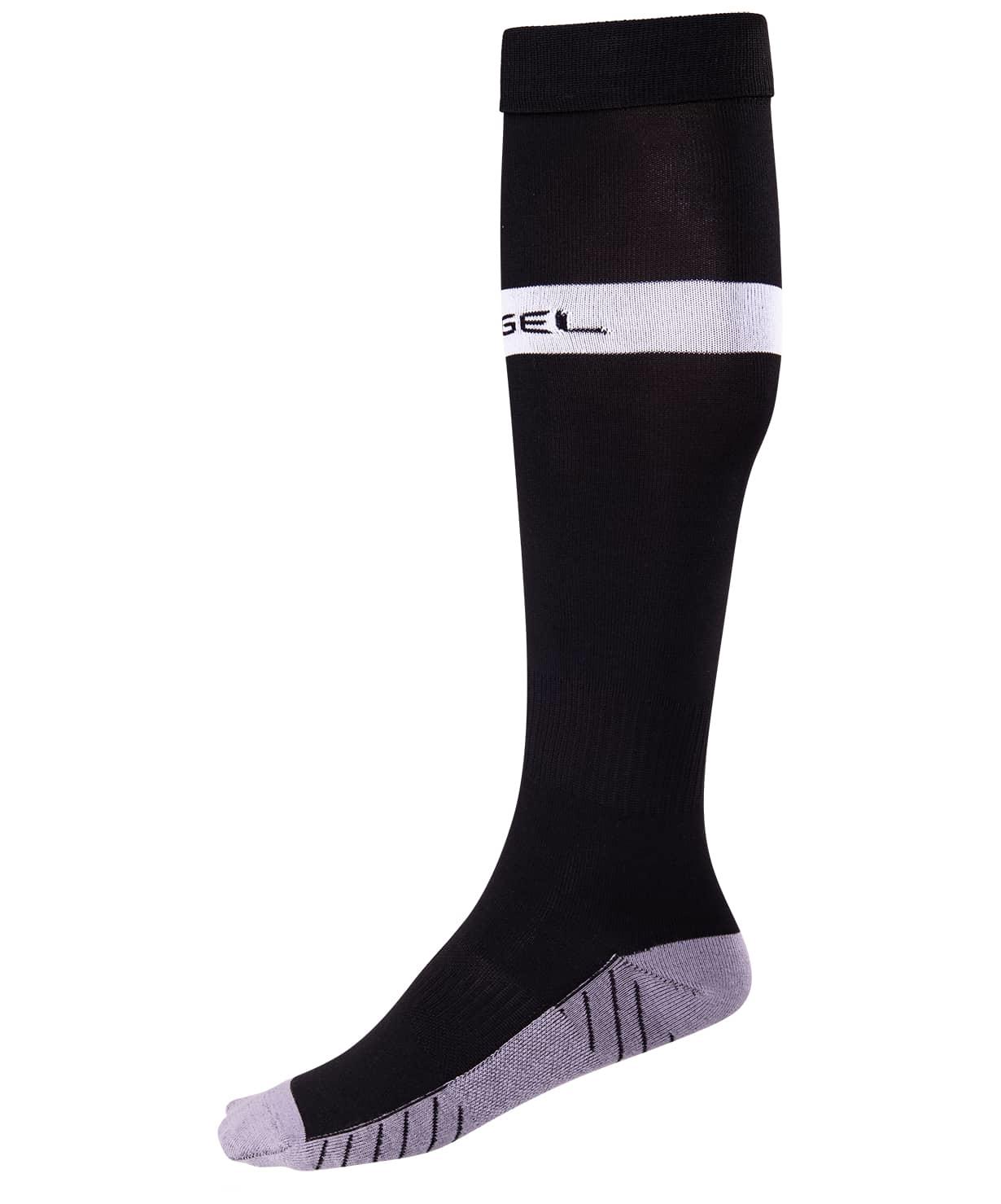 Гетры футбольные JA-003, черный/белый