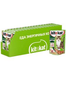 Влажный корм для кошек Kitekat соус с кроликом, 85г ( 28 шт. в уп. )