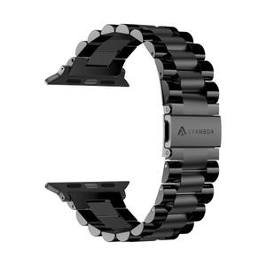 Ремешок из нержавеющей стали для Apple Watch 42/44 mm LYAMBDA KEID DS-APG-02-44-BL Black
