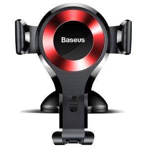 Держатель Baseus Osculum Type Gravity Car Mount Black+red