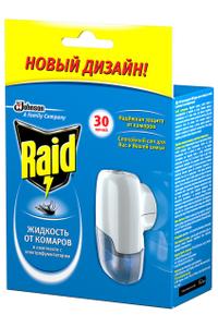 Жидкость от комаров для фумигатора Raid, 30 ночей, картонная коробка