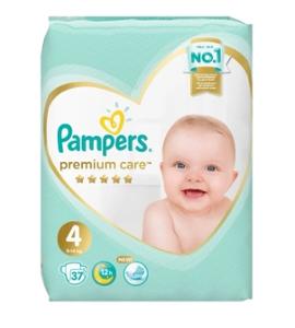 Подгузники Premium Care Maxi (9-14 кг) Упаковка 37 PAMPERS