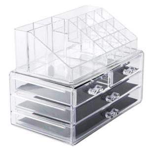 Бокс для маникюрных/косметических принадлежностей, 20 секций, 4 ящика, цвет прозрачный