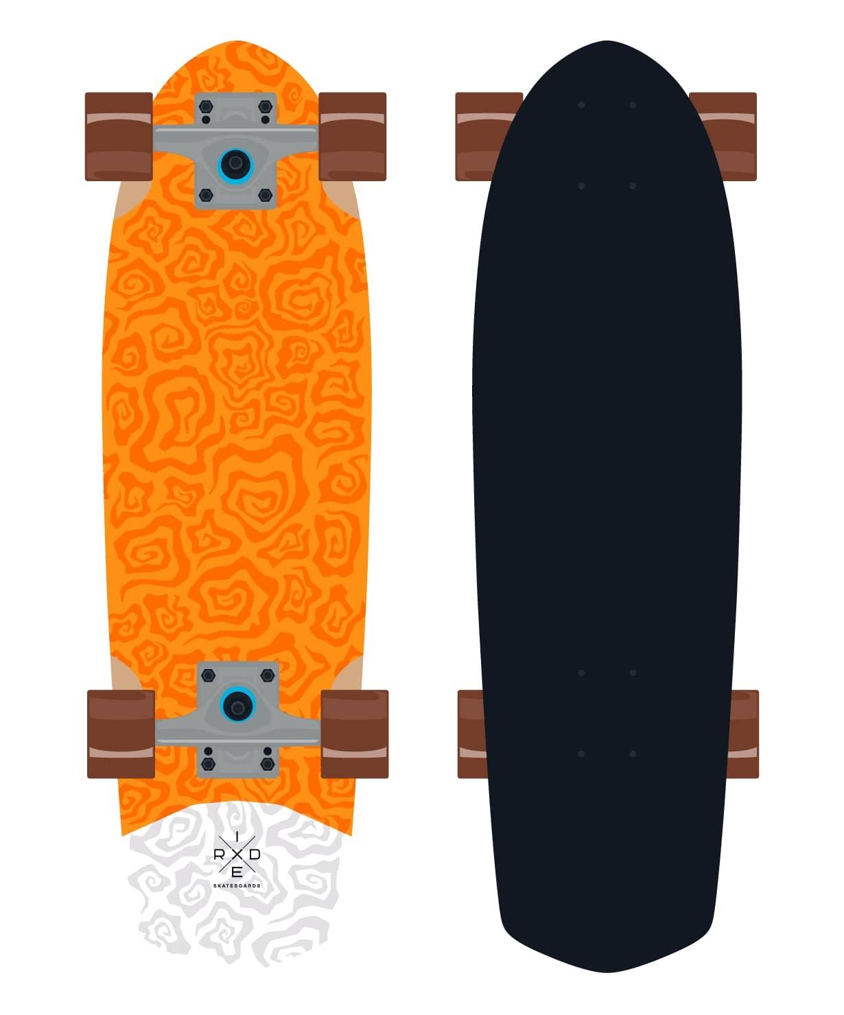Круизер деревянный Orange 28.5''X8.25''