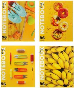 """Тетрадь 96 листов в клетку """"Солнечное настроение"""", обложка мелованный картон, блок офсет, МИКС"""