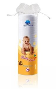 Диски ватные Baby Line 70шт Русалочка