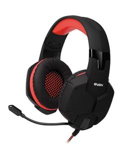 Наушники с микрофоном SVEN AP-G988MV <Black-Red> (шнур  1.2м, с регулятором  громкости)