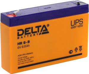 Аккумулятор Delta HR 6-9 (6V, 8.8Ah) для UPS
