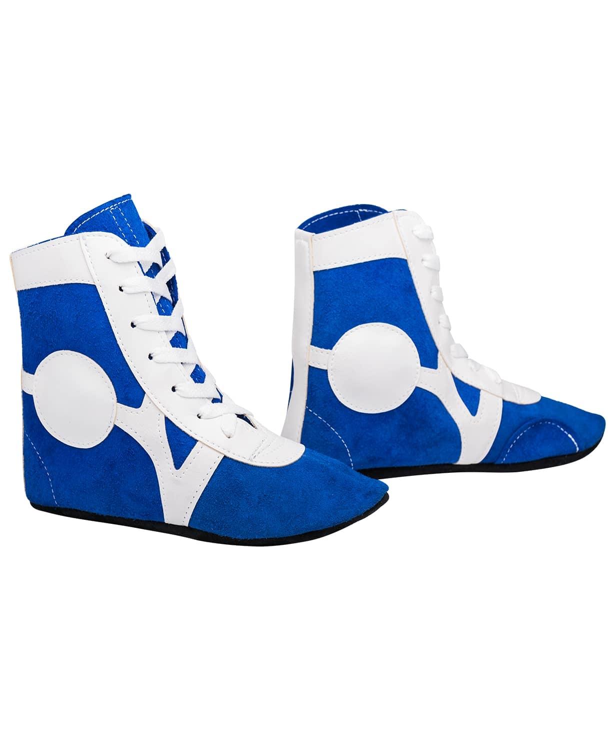 Обувь для самбо RS001/2, замша, синий