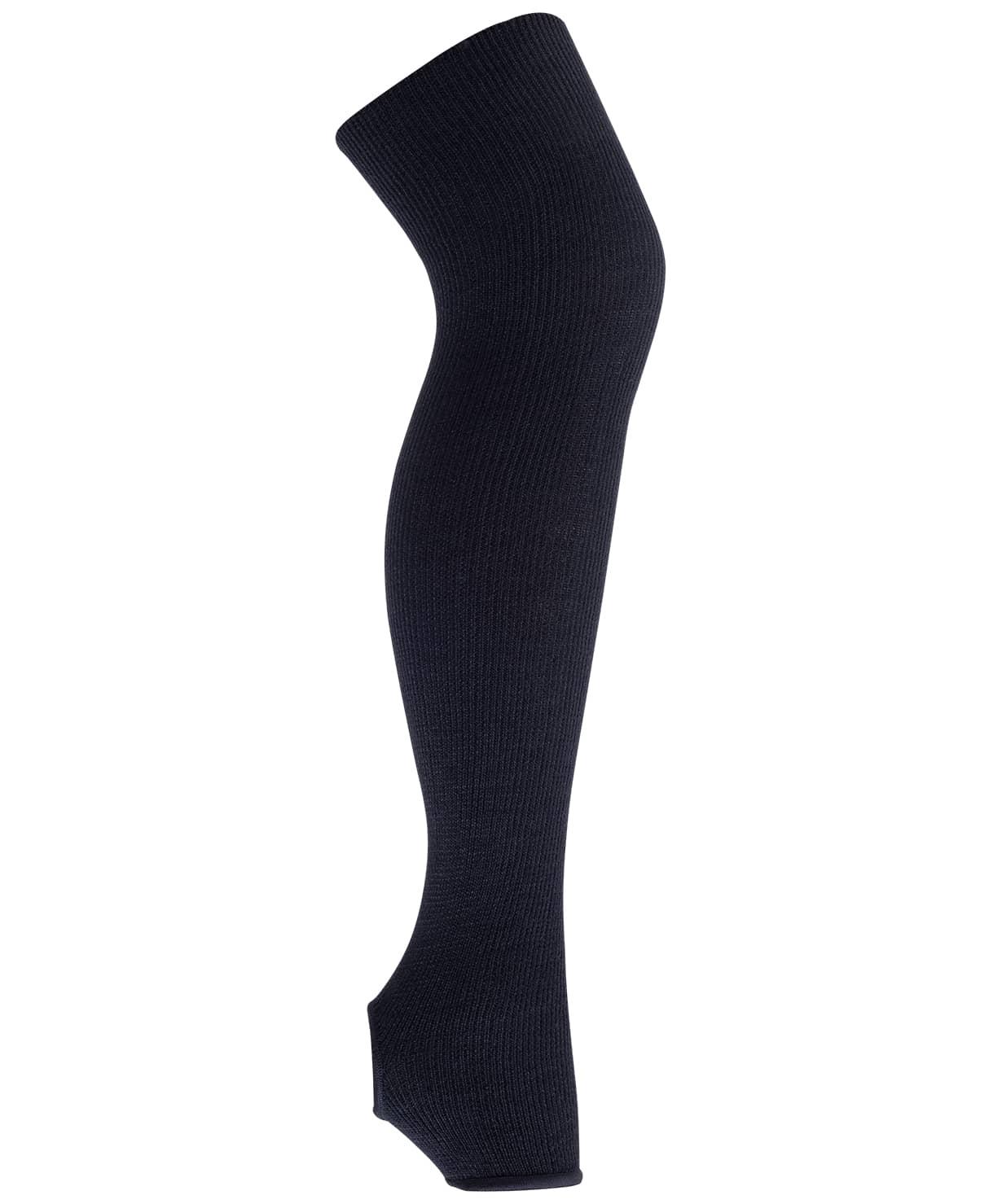 Гетры гимнастические разогревочные Stella Black, шерсть, 50 см