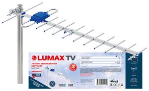 Антенна телевизионная наружная LUMAX DA2215A Ку до 26 дБ, RG-59