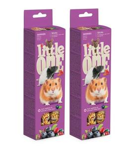 """LITTLE ONE / Лакомство для грызунов """"Палочки"""" с ягодами 120 гр. ( 2 упаковки)"""