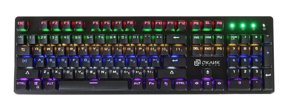 Клавиатура проводная Oklick 990G RAGE черный