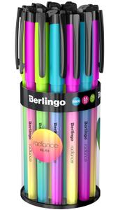 """Ручка гелевая Berlingo """"Radiance"""", 0,5 мм, черная, корпус ассорти"""