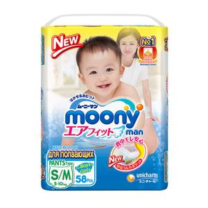 Подгузники S/M 5-10кг 58шт Moony