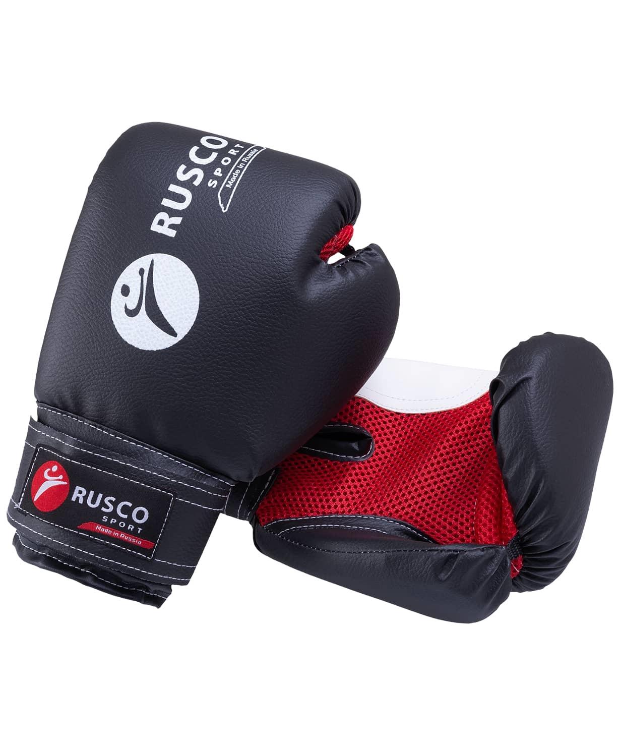 Перчатки боксерские Rusco, 10oz, к/з, черный
