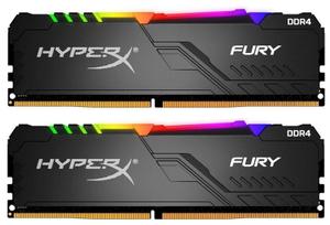 Оперативная память HyperX Fury RGB [HX437C19FB3AK2/16] 16 Гб DDR4