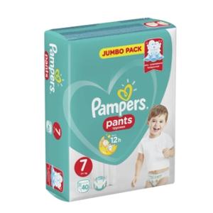 Подгузники-трусики Pants  Size 7 (17+ кг) Упаковка 40 PAMPERS