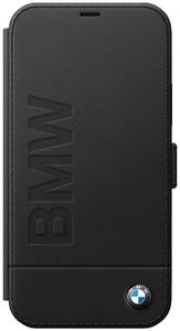 Чехол книжка BMW для Apple iPhone 12 Pro Max черный