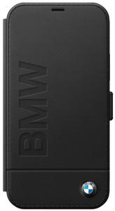 Чехол книжка BMW для Apple iPhone 12/12 Pro черный