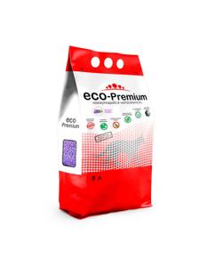 """Наполнитель комкующийся гигиенический """"Eco - Premium"""" Лаванда 5 л."""