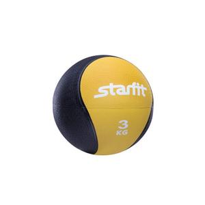 Медбол STARFIT Pro GB-702, 3 кг, желтый 1/4
