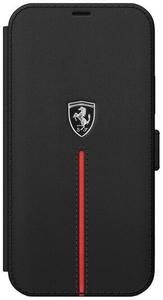 Чехол книжка Ferrari для Apple iPhone 12 Pro Max черный