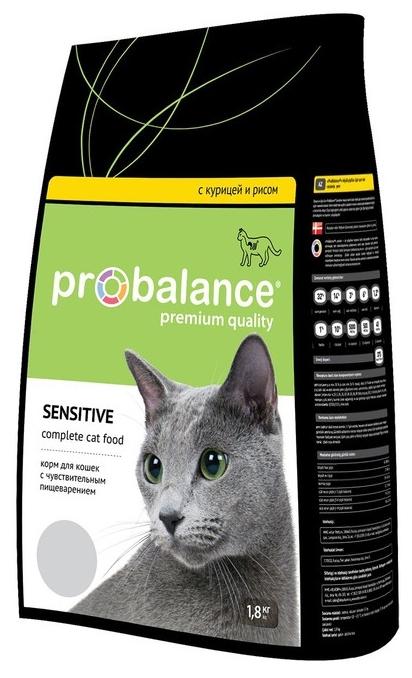 """Сухой корм для кошек ProBalance """"Sensitive"""" при чувствительном пищеварении 1.8 кг"""