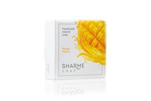 Натуральное твёрдое мыло ручной работы манго/mango SHARME SOAP