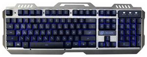 Клавиатура проводная Oklick 790G IRON FORCE серый