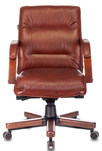 Кресло для руководителя Бюрократ [T-9927WALNUT-LOW] коричневый